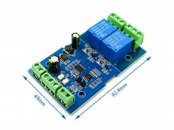 Modbus-Rtu 2 Channel Relay Module RS485/TTL Communication Output