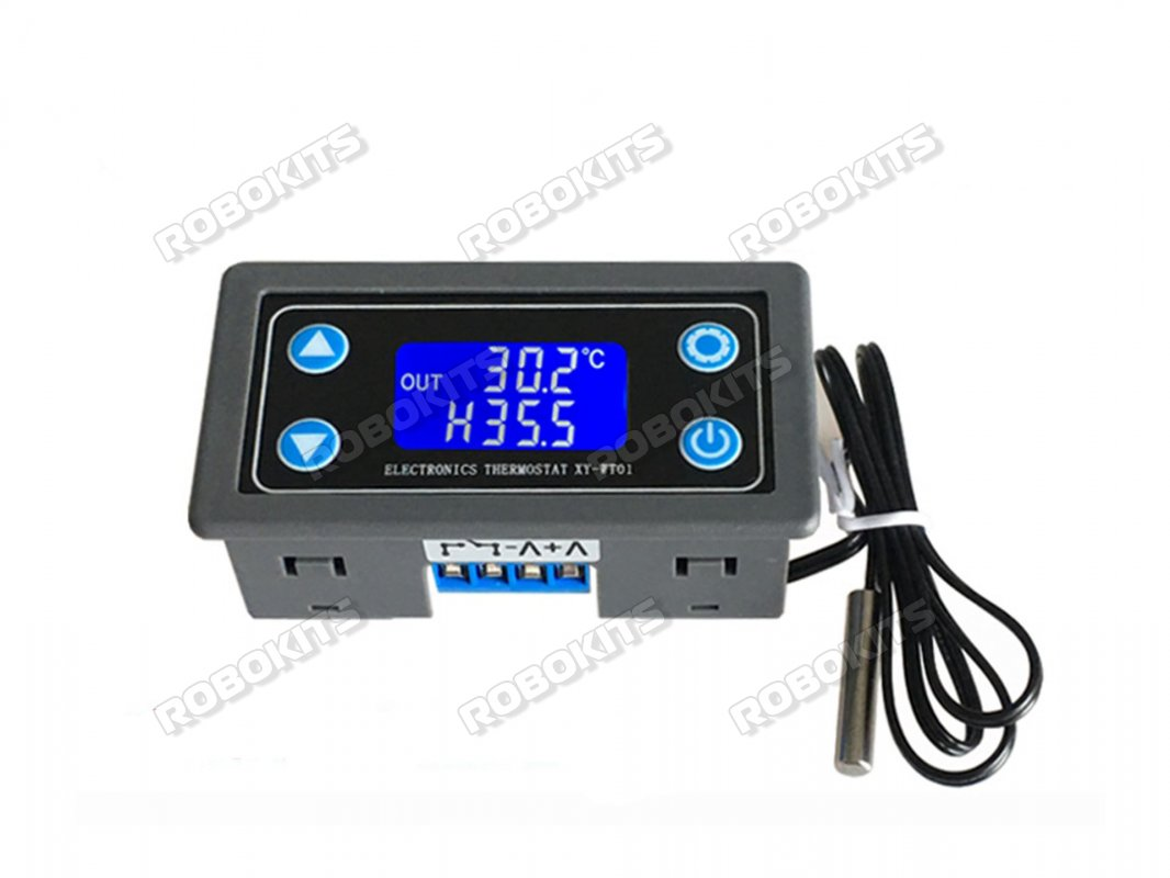 Xy Wt01 Temperature Controller Digital Display Heating Cooling Regulator Thermostat Switch Uart Rki 4611 540 00 Robokits India Easy To Use Versatile Robotics Diy Kits