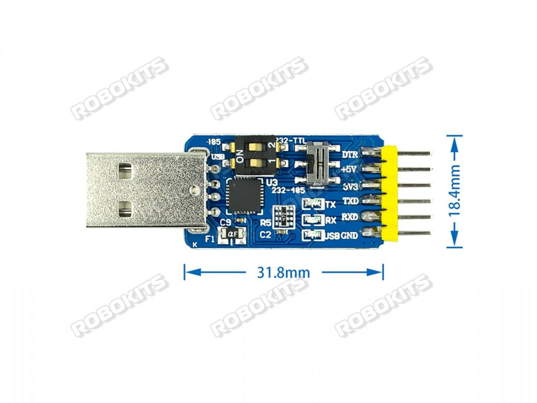 Six in One Multi Function Module CP2102 USB to TTL 485 232 Conversion 3.3V/5V Compatible - Click Image to Close