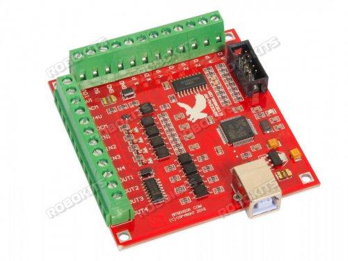 Usb Cnc Controller Mach3 4 Axis 100khz Interface Board Mk1 Rmcs 2404 3 280 00 Robokits India Easy To Use Versatile Robotics Diy Kits