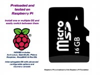 Micro SDHC Card 16GB Class 10 with NOOBS(Multi OS) Raspberry Pi
