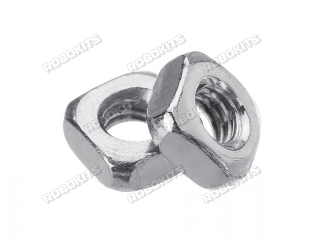 M4*7*3mm Square Nuts Stainless Steel 304 Pack of 15pcs - Click Image to Close