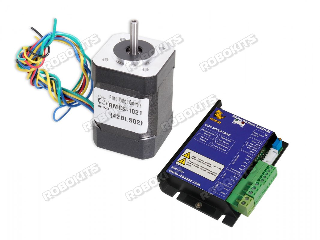 Nema17 52w Brushless Dc Motor With Rmcs 3001 Rs485 Modbus Drive