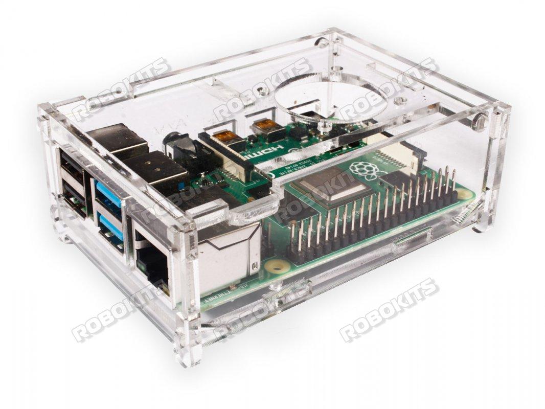 Transparent Acrylic Case For Raspberry Pi 4 Model B