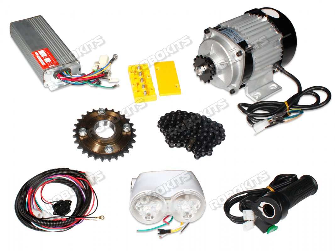 E-Bike 48V 400RPM 750W BLDC Geared Motor with Complete E-Bike Accessories Kit - Click Image to Close