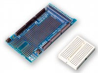 Protoshield for Arduino Mega with Breadboard