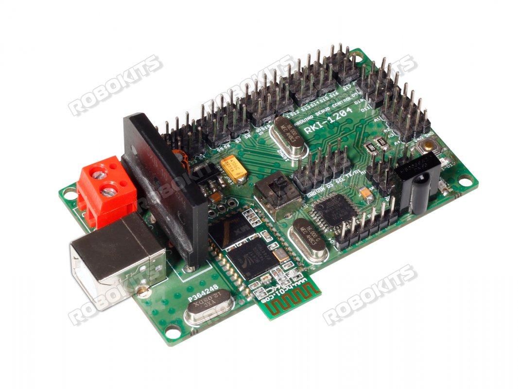 Arduino Uno R3 based Bluetooth & USB 18 Servo Controller
