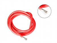 Silicone Wire High Temperature Corrosion Resistant 3KV UL 3239 Grade 8AWG (1 meter Red)