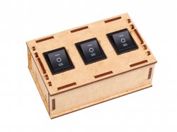 Robotic Box Enclosure 3 Way with DPDT Switches