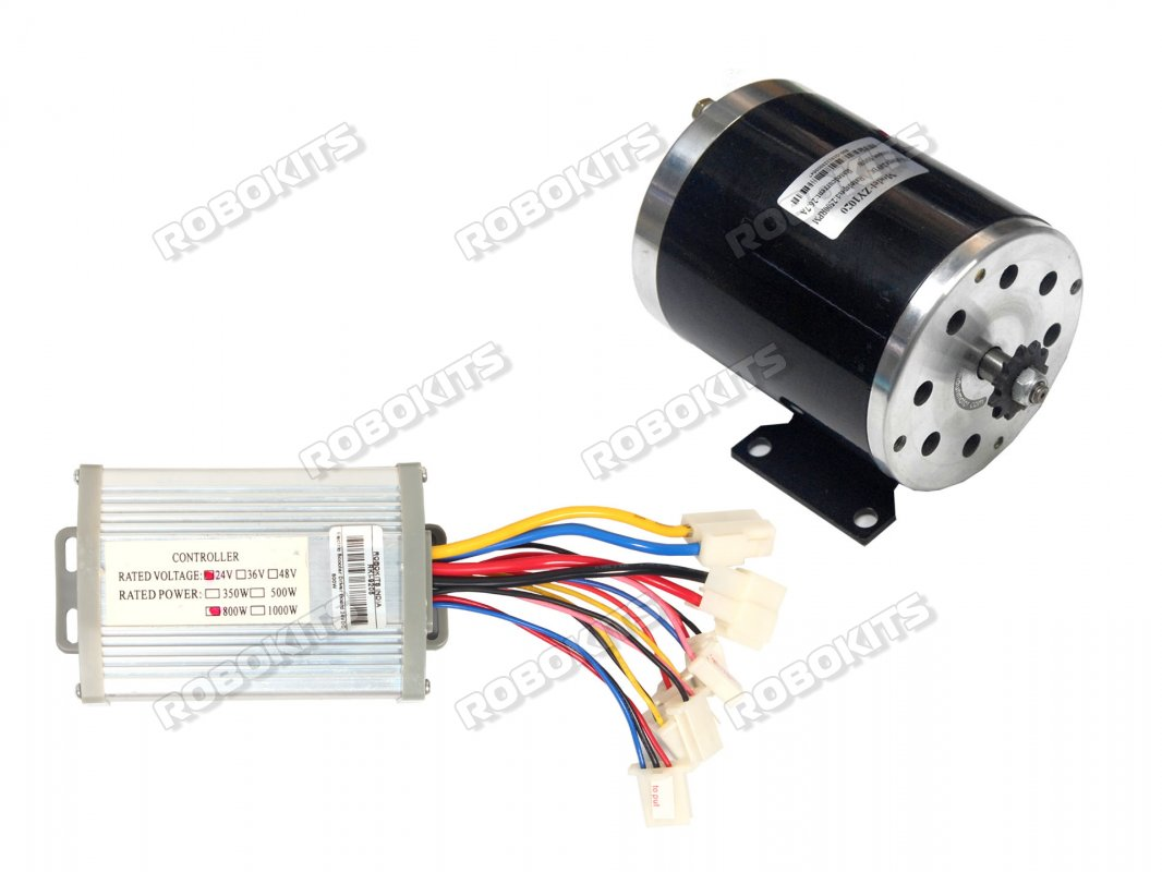 EBike DC Motor 24V 2750RPM 500W with Controller