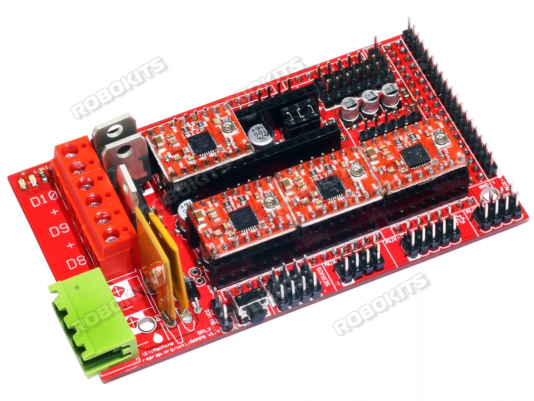 Ramps 1.4 3D Printer Control Board with 4XA4988 Drivers - Click Image to Close