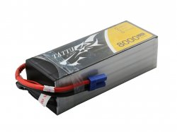 TATTU 8000MAH 6S1P 25C 22.2V LIPO BATTERY