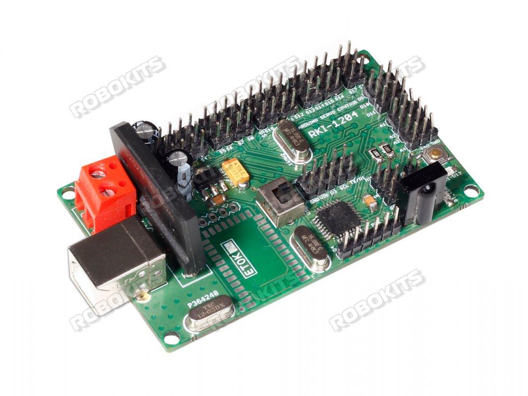 Arduino Uno R3 Based Usb 18 Servo Controller Rki 1251 1500 8051 Microcontroller Ultrasonic Rangefinder Using Circuit Diagram