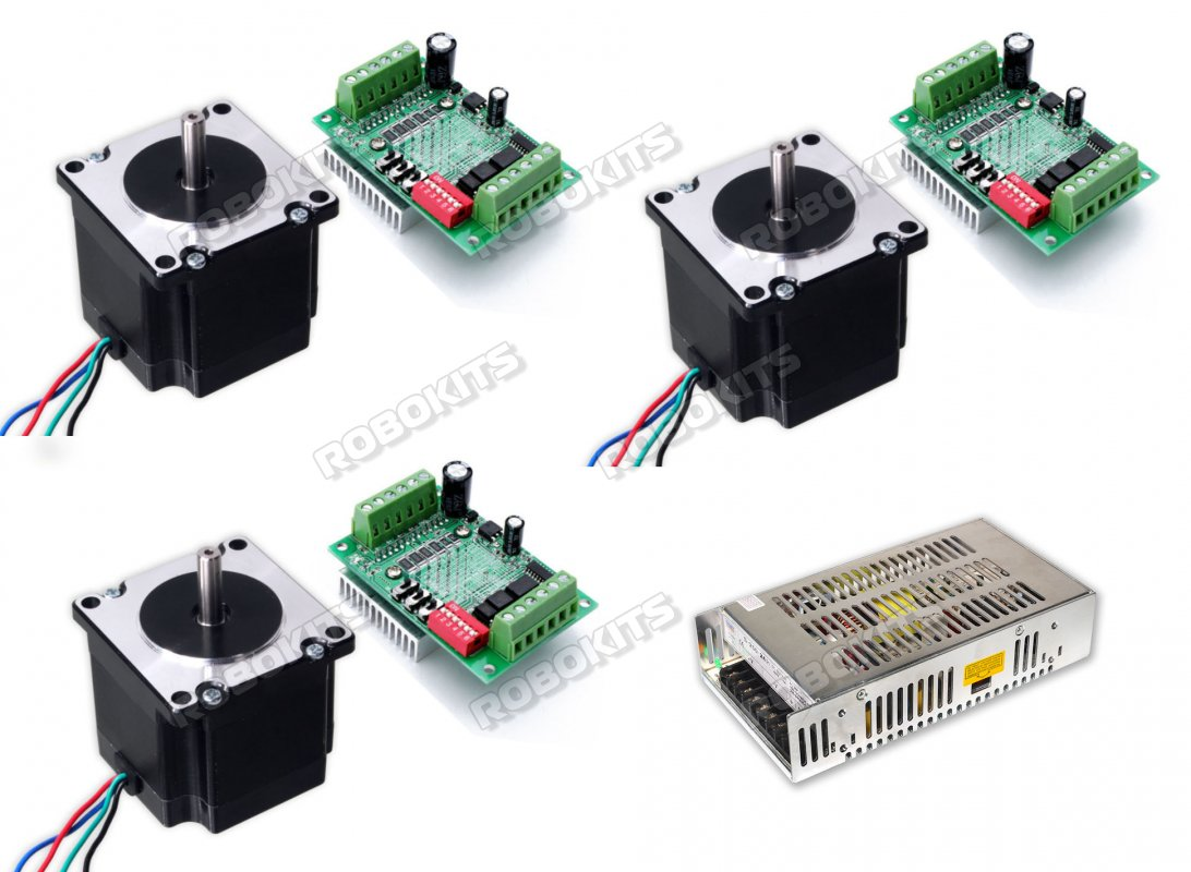 CNC Package with Stepper Motor Nema23 10kgcm Motor & TB6560 - Click Image to Close