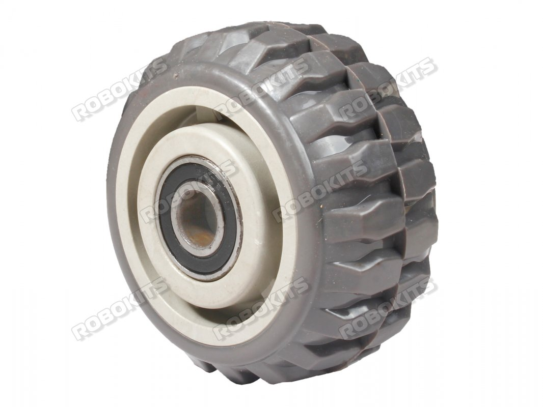 "Astro Heavy Duty 100mm Hard PU Rubber HIgh Endurance Wheels (2""Wide) - Click Image to Close"