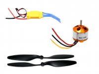 RC Motor 2212 1000KV with SimonK 30A ESC and Propeller Pair