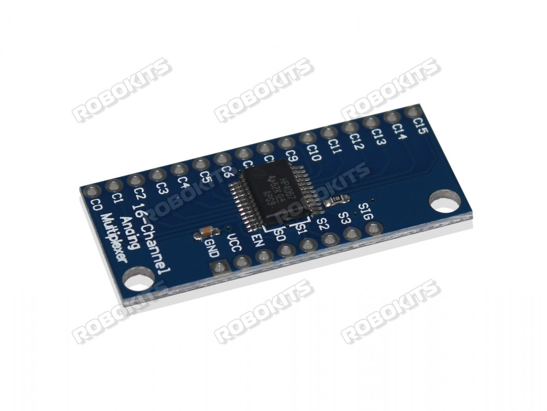 Analog Multiplexer Based Cd74hc4067 Rki 2716 140 Robokits Automations Gt Relay Circuits Rf 433mhz 3 Channels Remote Control