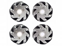 60mm Mecanum Wheel Set (2x Left, 2x Right) Basic - Bush type rollers