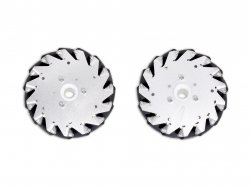 152mm Mecanum Wheel Set (1x Left, 1x Right) Basic - Bush type rollers