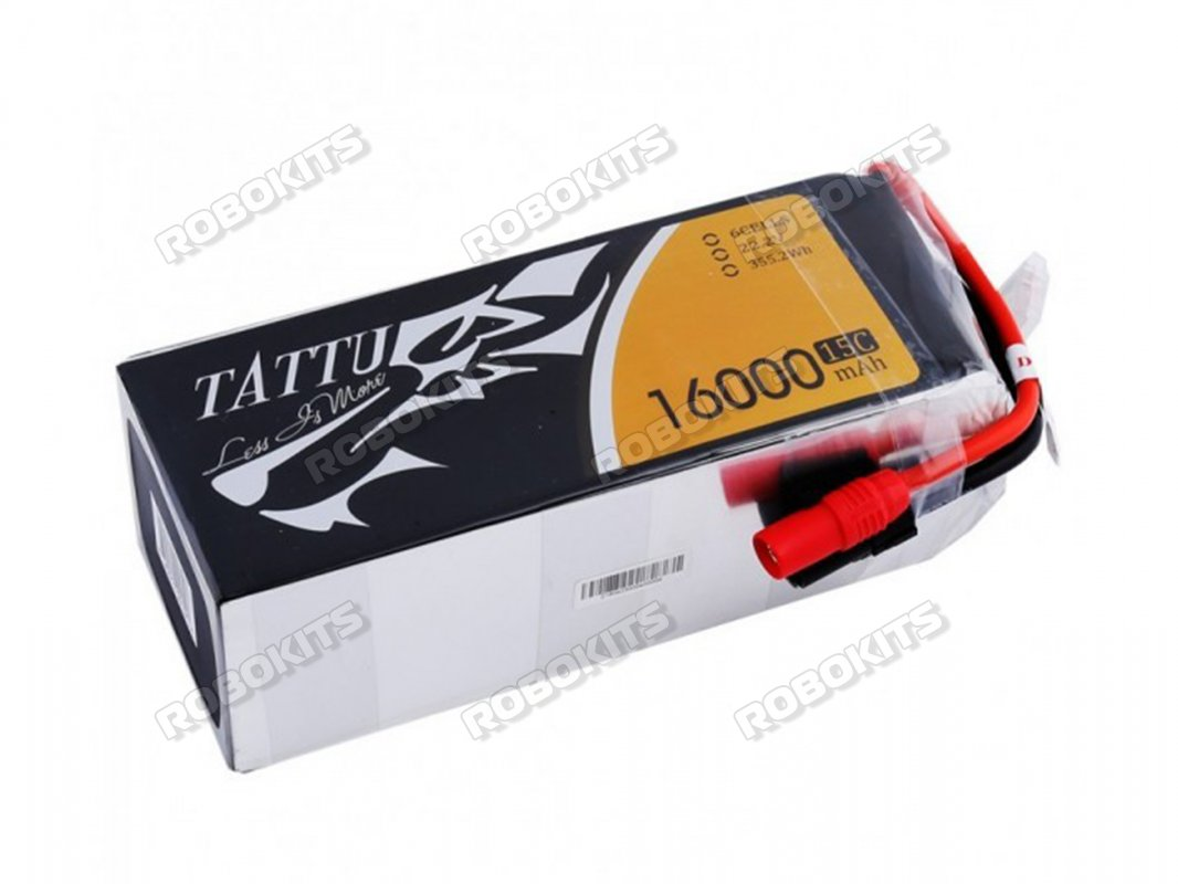 TATTU 16000MAH 6S1P 15C XT60 LIPO BATTERY - Click Image to Close