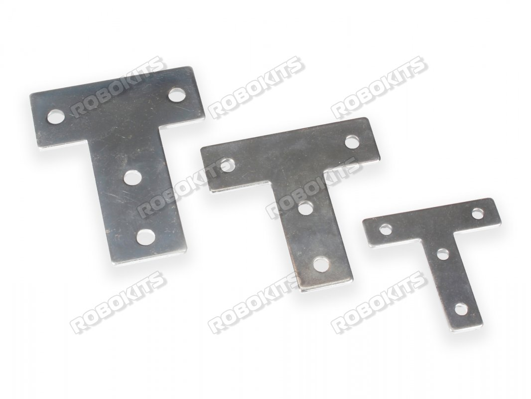 T Shape Outer Connection Plate 4040 Profile 2pc Set - Click Image to Close