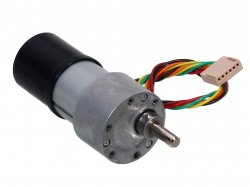High Precision Quad Encoder Geared DC Motor Side Shaft 10RPM