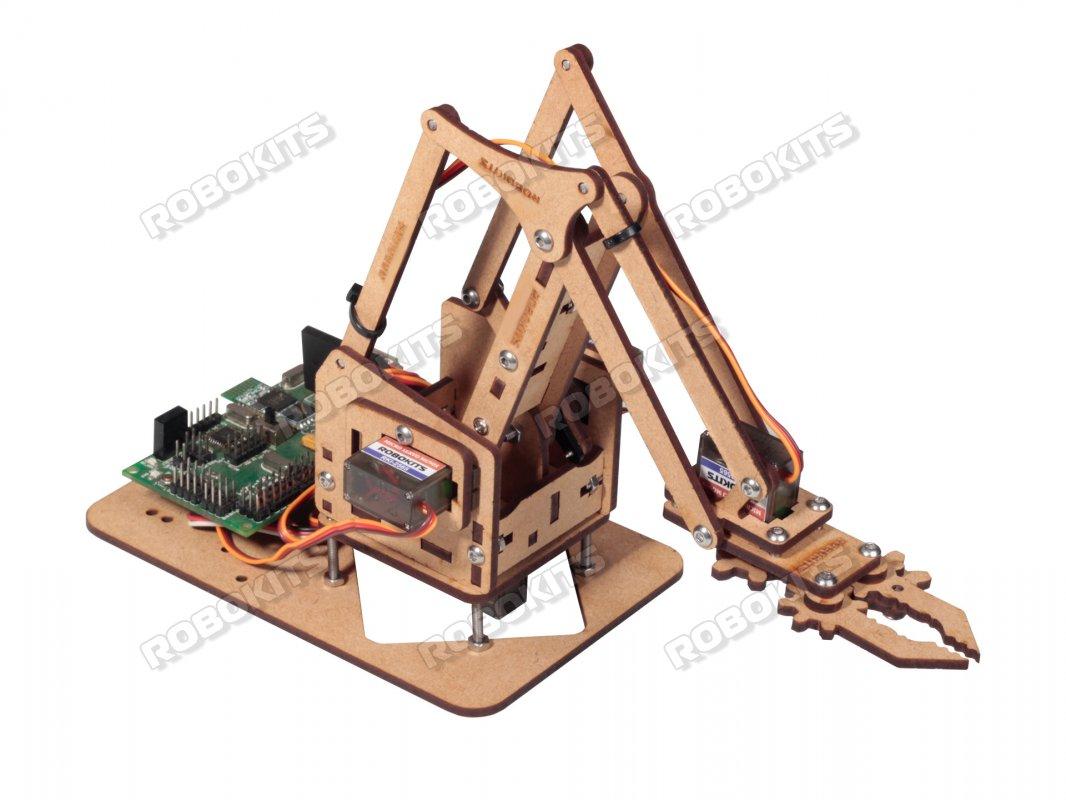 Mini Robotic arm with Arduino Compatible Servo Controller Board