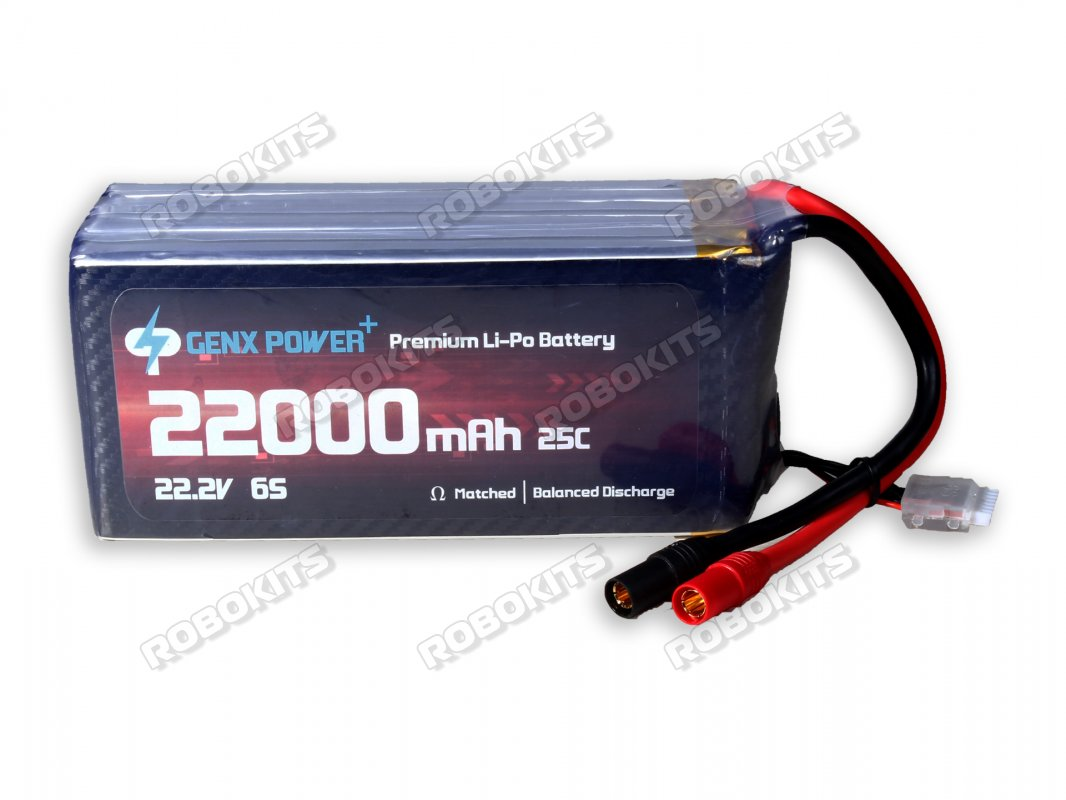 GenX 22.2V 6S 22000mAh 25C / 50C Premium Lipo Battery with AS150 Connector - Click Image to Close
