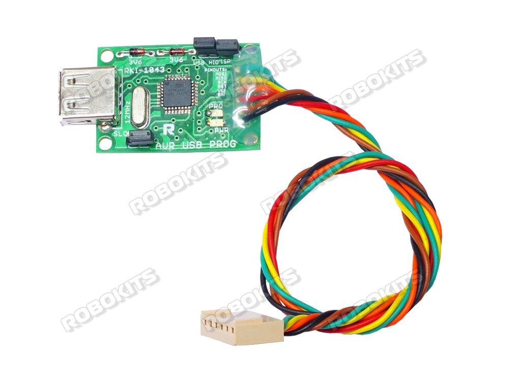 Avr Usb Programmercompatible With All Windows Rki 1043 375 Atmega Programmer Pcb Component Side