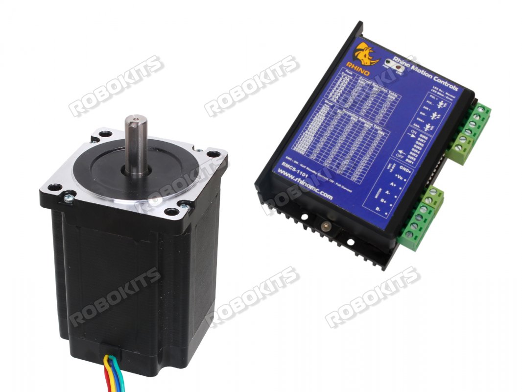 Nema34 Stepper Motor 85kgcm Torque With Rmcs 1101 Drive 1155 Interfacing Pic16f877a Bipolar Circuit