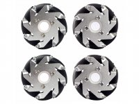 60mm Mecanum Wheel Set (2x Left, 2x Right)