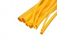 Heat Shrink Sleeve 5 mm Yellow 2 meter Premium Quality Industrial Grade WOER (HST)