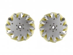 203MM MECANUM WHEEL SET (1X LEFT, 1X RIGHT) - Bearing Rollers