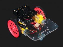 Robot Chassis Kit with motors wheels and battery holder Compatible with Arduino