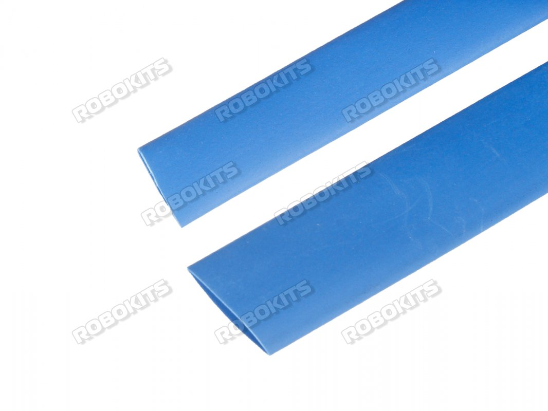 Heat Shrink Sleeve 8 mm Blue 1 meter Premium Quality Industrial Grade WOER (HST)