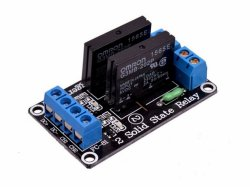 5V 2 Channel Solid State Relay Module 240V 2A Output with Resistive Fuse