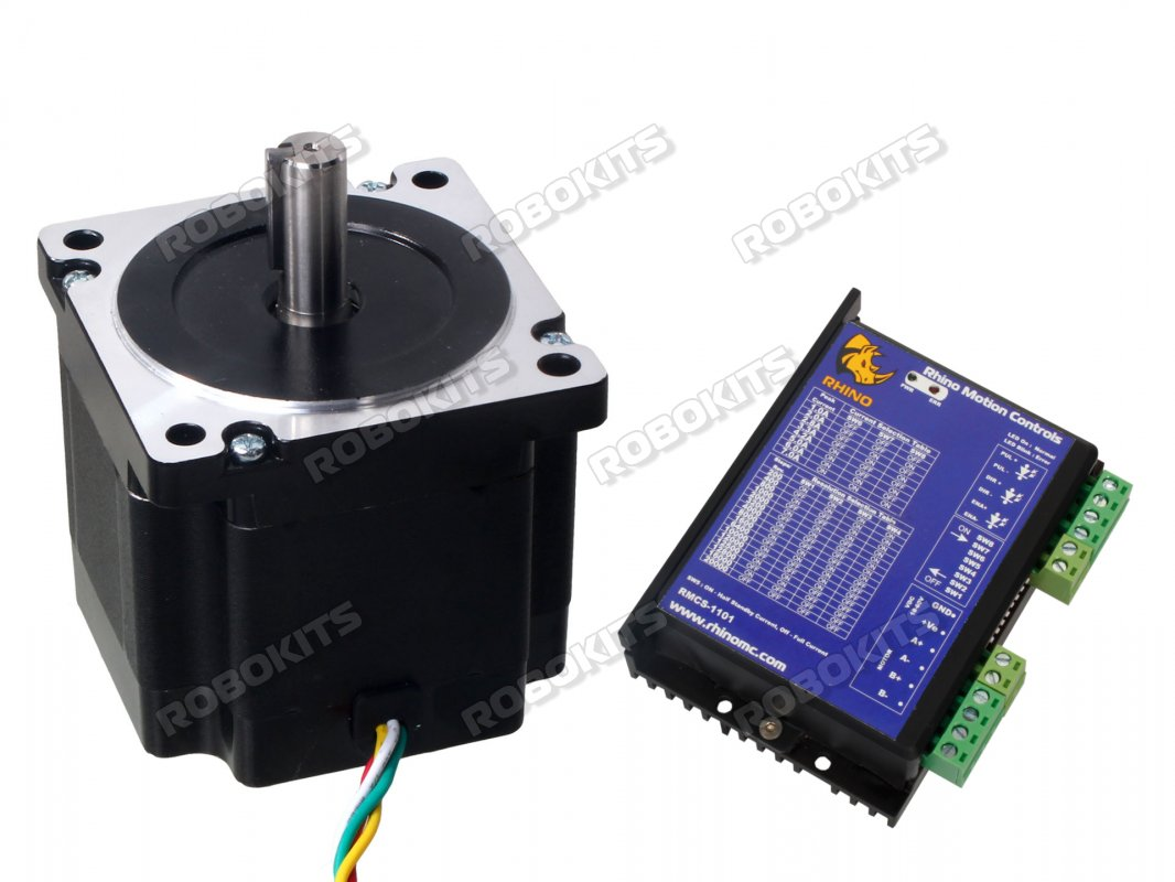 NEMA34 Stepper Motor 45Kgcm Torque with RMCS-1101 Drive - Click Image to Close