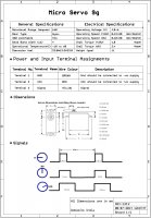 Micro Servo 9g with accessories - SG90 Premium