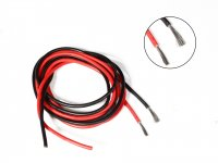 Silicone Wire High Temperature Corrosion Resistant 3KV UL 3239 Grade 14AWG (1m Black+ 1m Red)