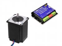 Stepper Motor NEMA23 19KgCm torque with 5A Mircostepping Drive