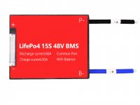 Lifepo4 15S 60A Balance Common Port Bms 3.2v LifePo4 cell - 48V battery
