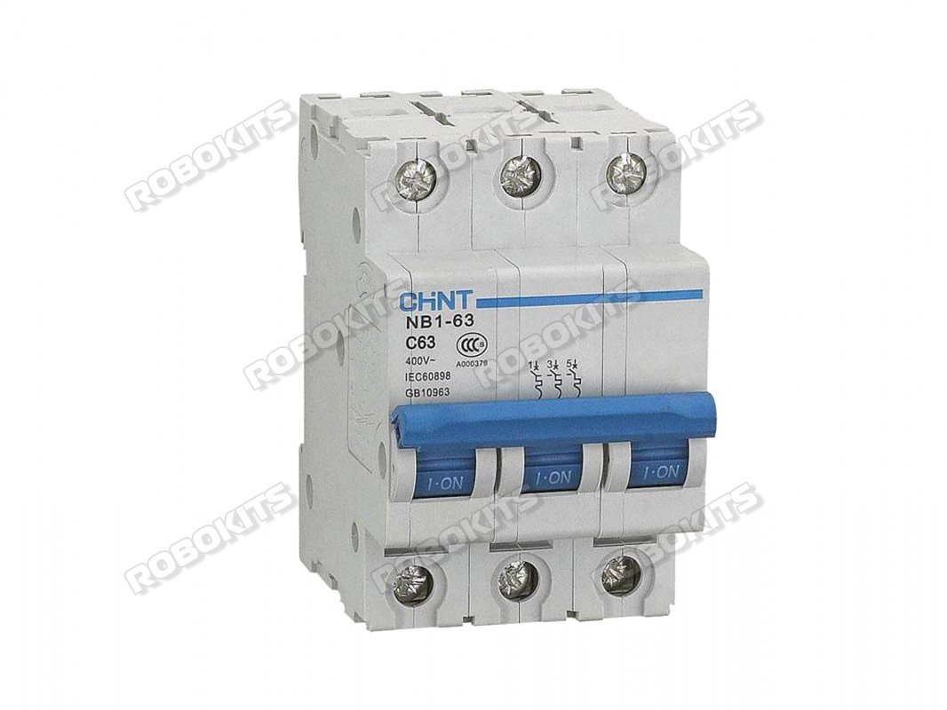 MCB 6Amp 10kA 3-Pole CHINT NB1 - Click Image to Close