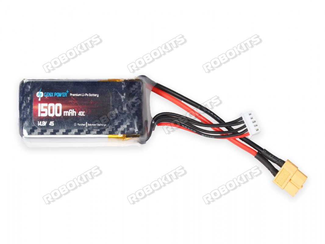 GenX 14.8V 4S 1500mAh 40C / 80C Premium Lipo Lithium Polymer Battery - Click Image to Close