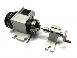 K01-50 CNC Router Rotational Rotary A-Axis, 4th-Axis+Tailstock Engraving Machine
