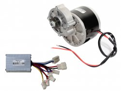 E-BIKE DC GEARED MOTOR MY1016Z2 24V 300RPM 250W WITH CONTROLLER