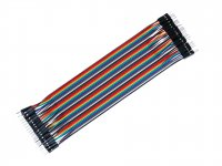 1 pin Dual Male jumper wire 20pcs pack