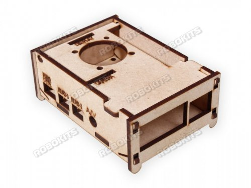 Enclosure for Raspberry Pi 4 Model B - MDF wooden
