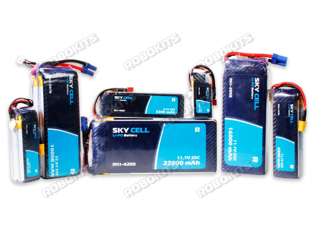 Skycell 3.7V 850mAh 30C (Lipo) Lithium Polymer Rechargeable Battery - Click Image to Close