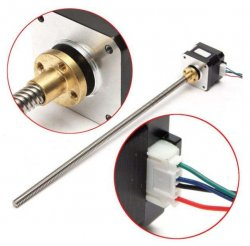 Nema17 Stepper Motor With T8 310mm Four Start Lead screw For 3D Printer/CNC