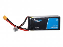 Skycell 22.2V 6S 8000mah 25C (Lipo) Lithium Polymer Rechargeable Battery